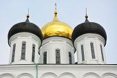 stock photo of trinity  - Famous Trinity cathedral in the Pskov city Russia - JPG