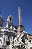 pic of obelisk  - Fountain of the Four Rivers  - JPG