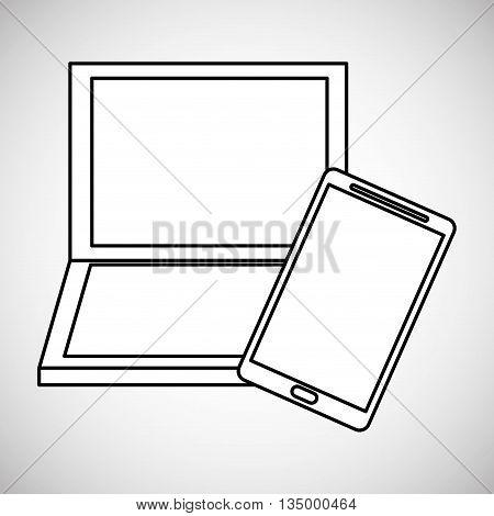 Communication design. Media icon. Flat illustration, vector graphic, electronic device