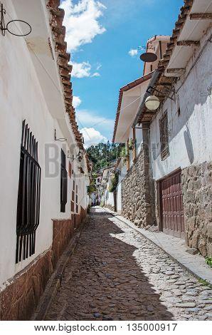 Streets of Cuzco in Peru, South America