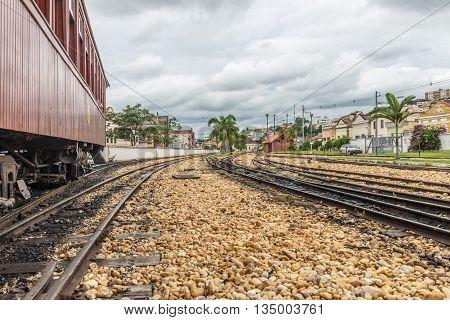 Old Train In Sao Joao Del Rey