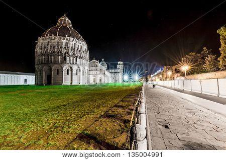 Italy, Pisa, Piazza del Duomo - Baptistery of San Giovanni