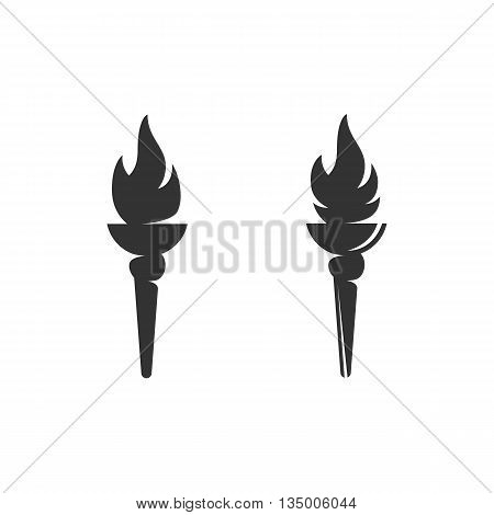 Torch icon on white background. Torch vector logo. Flat design style. Modern vector pictogram for web graphics. - stock vector