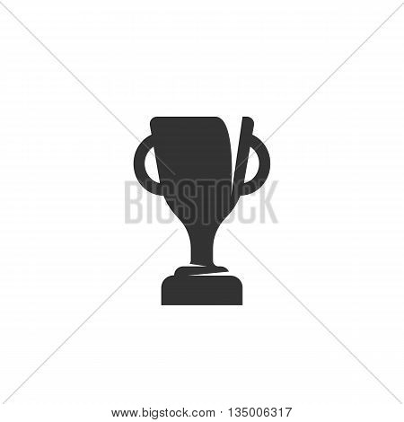 Cup icon on white background. Cup vector logo. Flat design style. Modern vector pictogram for web graphics. - stock vector