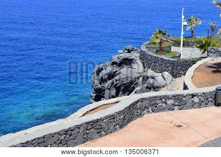 A view of Callao Salvaje coast in Adeje Tenerife
