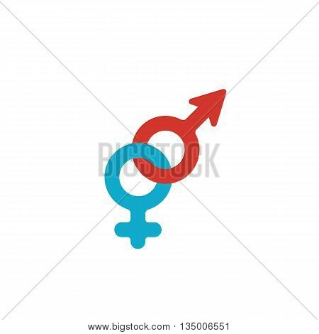 Gender logo on white background. Gender icon template. Flat design style. Vector illustration - stock vector