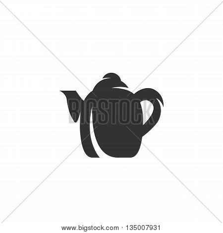 Kettle Icon on white background - stock vector
