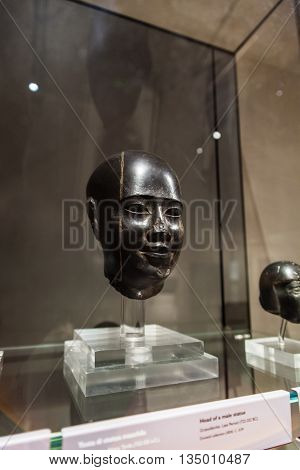 Head Of Male Statue In Museo Egizio In Turin