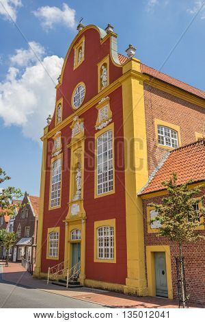 Front of the Gymnasialkirche church in Meppen Germany