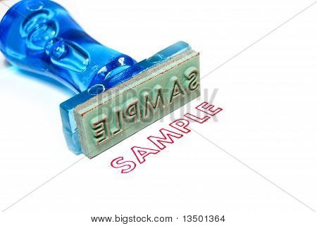 Sample Blue Rubber Stamp