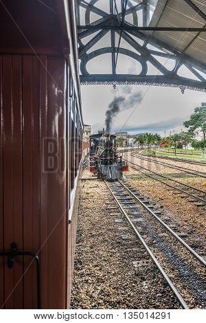 Old Train (maria Fumaca) In Saint John Del Rei City