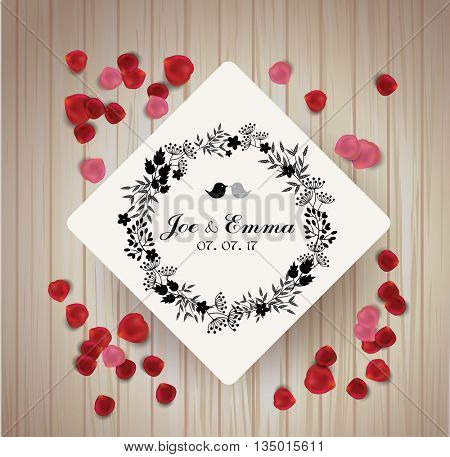 Save the date card. summer design for invitation, wedding or greeting cards.