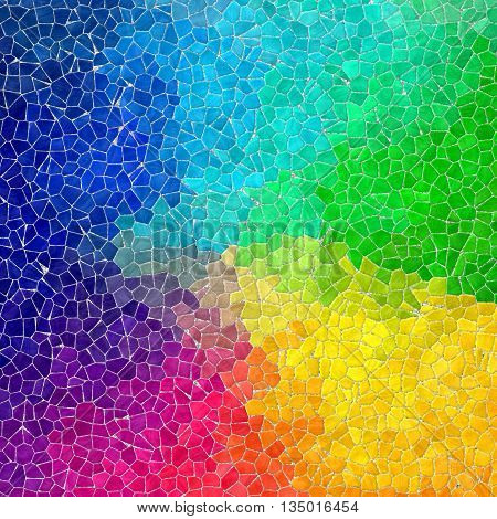 full color rainbow spectrum mosaic pattern texture background with gray grout
