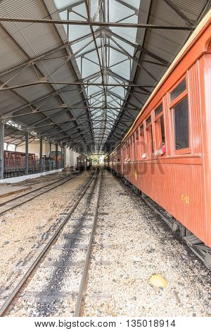 Old Train In Saint John Del Rei Historical City