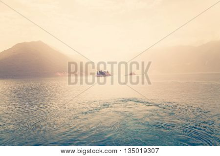 City Perast On Coast Of Boka Kotor Bay, Montenegro.