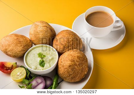 Kachori or Kachauri or Kachodi or Katchuri is a spicy snack popular in india, asian snacks, pakistani snacks with tea and green salad