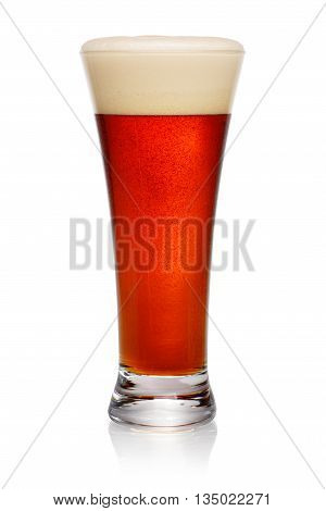 Glass Of Dark Beer On White