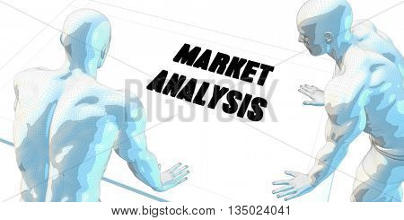 Market Analysis Discussion and Business Meeting Concept Art 3D Illustration