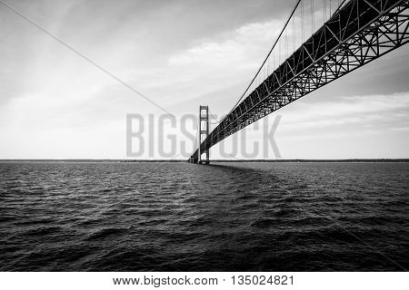 Mackinac Bridge from a Ferry on a Beautiful Day