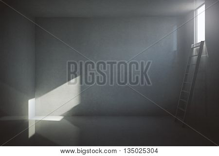 Dark Prison Cell Interior