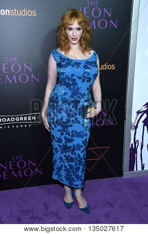 LOS ANGELES - JUN 14:  Christina Hendricks arrives to the 'The Neon Demon' Hollywood Premiere  on June 14, 2016 in Hollywood, CA.