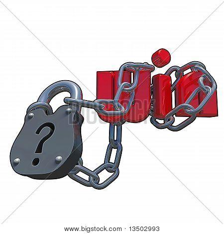 3D Questionmark Lock
