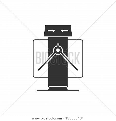 Tripod turnstile isolated on white. Vector illustration