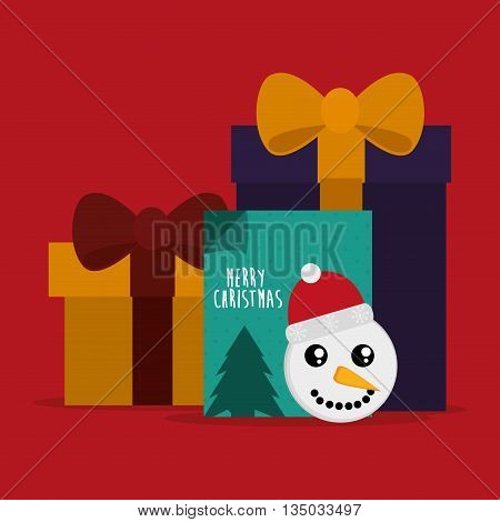 Merry Christmas concept with decoration icons design, vector illustration 10 eps graphic.