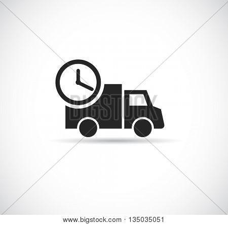 delivery car - web icon