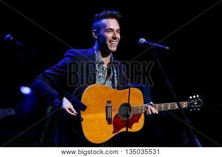 NEW YORK-APR 30: Sam Palladio performs onstage during the 'Nashville' Tour at The Beacon Theatre on April 30, 2015 in New York City.