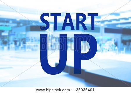 Start up concept. Abstract background