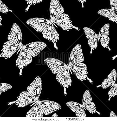 Beautiful seamless background with butterflies. Perfect for background greeting cards and invitations of the wedding birthday Valentine's Day