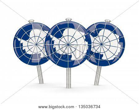 Flag Of Antarctica, Round Pins