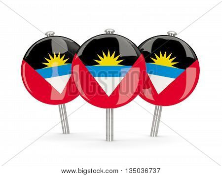 Flag Of Antigua And Barbuda, Round Pins