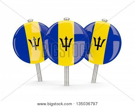 Flag Of Barbados, Round Pins
