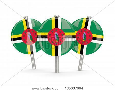 Flag Of Dominica, Round Pins
