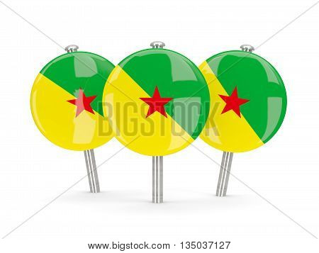 Flag Of French Guiana, Round Pins
