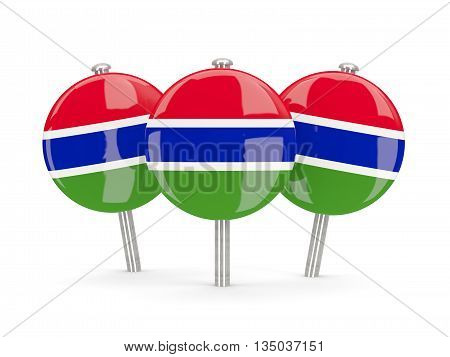 Flag Of Gambia, Round Pins