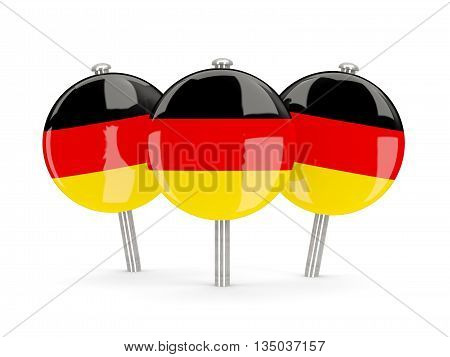Flag Of Germany, Round Pins