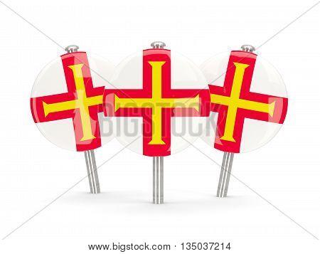 Flag Of Guernsey, Round Pins
