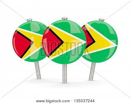 Flag Of Guyana, Round Pins