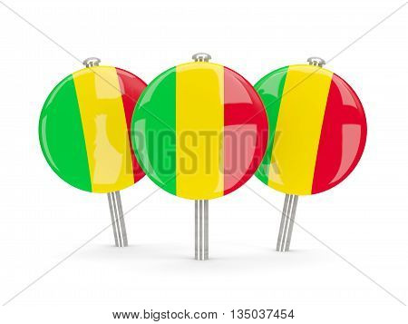 Flag Of Mali, Round Pins