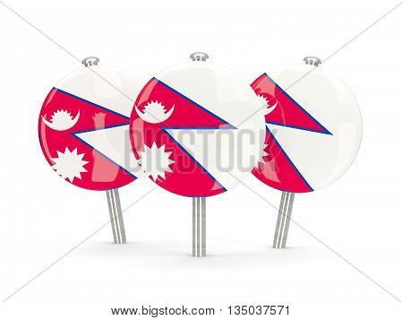 Flag Of Nepal, Round Pins