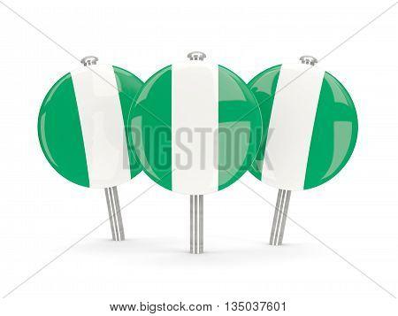 Flag Of Nigeria, Round Pins