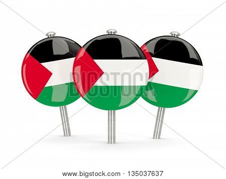 Flag Of Palestinian Territory, Round Pins