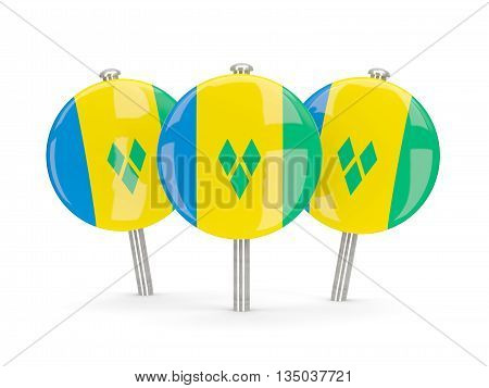 Flag Of Saint Vincent And The Grenadines, Round Pins