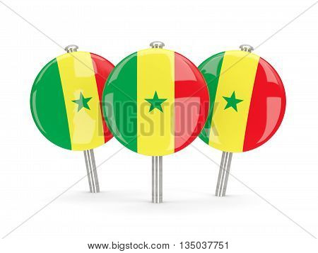 Flag Of Senegal, Round Pins