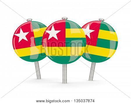 Flag Of Togo, Round Pins