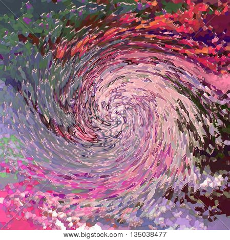 Abstract coloring background of the horizon gradient with visual wave,twirl and plastic wrap effects