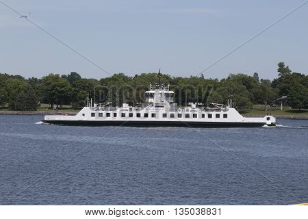 June 19, 2016 - Kingston, Ontario - Canada - Tour boat on the St. Lawrence River